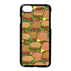 Burger Double Border Apple Iphone 7 Seamless Case (black) by Simbadda