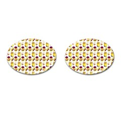 Hamburger And Fries Cufflinks (oval)