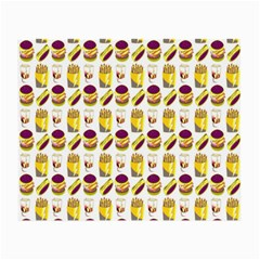 Hamburger And Fries Small Glasses Cloth (2 Side) by Simbadda