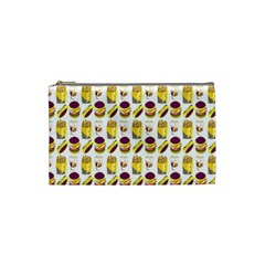 Hamburger And Fries Cosmetic Bag (small)  by Simbadda