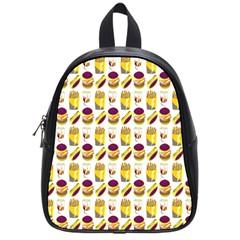 Hamburger And Fries School Bags (small)  by Simbadda
