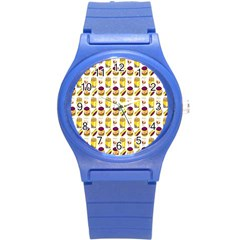 Hamburger And Fries Round Plastic Sport Watch (s) by Simbadda