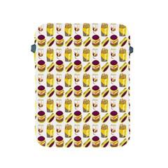 Hamburger And Fries Apple Ipad 2/3/4 Protective Soft Cases by Simbadda