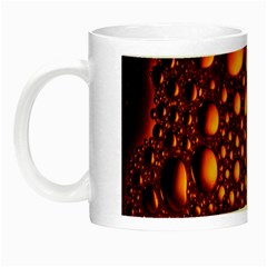 Bubbles Abstract Art Gold Golden Night Luminous Mugs by Simbadda