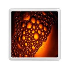 Bubbles Abstract Art Gold Golden Memory Card Reader (square)  by Simbadda