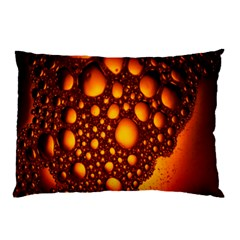 Bubbles Abstract Art Gold Golden Pillow Case (two Sides) by Simbadda