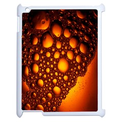 Bubbles Abstract Art Gold Golden Apple Ipad 2 Case (white) by Simbadda