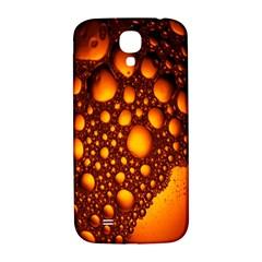 Bubbles Abstract Art Gold Golden Samsung Galaxy S4 I9500/i9505  Hardshell Back Case by Simbadda