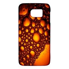 Bubbles Abstract Art Gold Golden Galaxy S6 by Simbadda