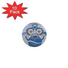 Pattern Monkey New Year S Eve 1  Mini Buttons (10 Pack)  by Simbadda