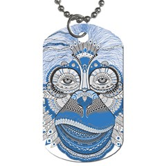 Pattern Monkey New Year S Eve Dog Tag (one Side) by Simbadda