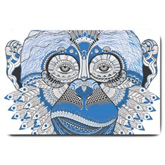 Pattern Monkey New Year S Eve Large Doormat  by Simbadda