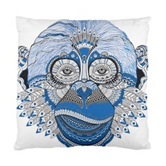 Pattern Monkey New Year S Eve Standard Cushion Case (one Side) by Simbadda