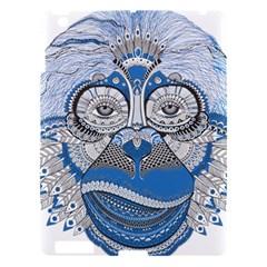 Pattern Monkey New Year S Eve Apple Ipad 3/4 Hardshell Case by Simbadda