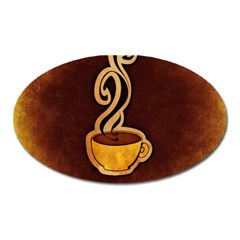 Coffee Drink Abstract Oval Magnet by Simbadda