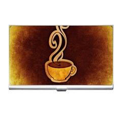 Coffee Drink Abstract Business Card Holders by Simbadda