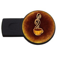 Coffee Drink Abstract Usb Flash Drive Round (2 Gb) by Simbadda