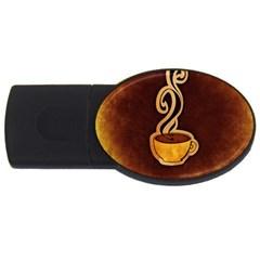 Coffee Drink Abstract Usb Flash Drive Oval (2 Gb) by Simbadda
