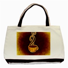 Coffee Drink Abstract Basic Tote Bag (two Sides) by Simbadda