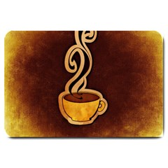Coffee Drink Abstract Large Doormat  by Simbadda
