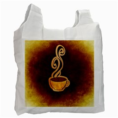 Coffee Drink Abstract Recycle Bag (one Side)