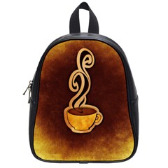 Coffee Drink Abstract School Bags (small)  by Simbadda