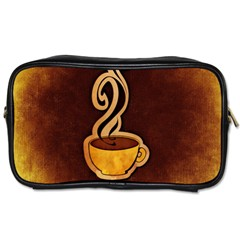 Coffee Drink Abstract Toiletries Bags 2 Side by Simbadda