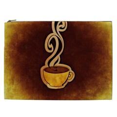 Coffee Drink Abstract Cosmetic Bag (xxl)  by Simbadda