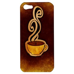 Coffee Drink Abstract Apple Iphone 5 Hardshell Case by Simbadda