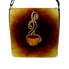 Coffee Drink Abstract Flap Messenger Bag (l)  by Simbadda