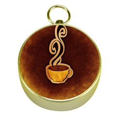 Coffee Drink Abstract Gold Compasses by Simbadda