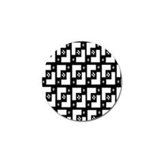 Abstract Pattern Background  Wallpaper In Black And White Shapes, Lines And Swirls Golf Ball Marker (4 Pack) by Simbadda