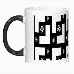 Abstract Pattern Background  Wallpaper In Black And White Shapes, Lines And Swirls Morph Mugs by Simbadda