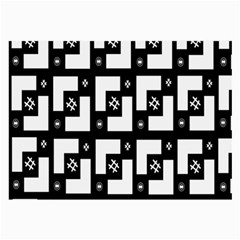 Abstract Pattern Background  Wallpaper In Black And White Shapes, Lines And Swirls Large Glasses Cloth by Simbadda