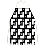 Abstract Pattern Background  Wallpaper In Black And White Shapes, Lines And Swirls Full Print Aprons Front