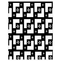 Abstract Pattern Background  Wallpaper In Black And White Shapes, Lines And Swirls Drawstring Bag (large)