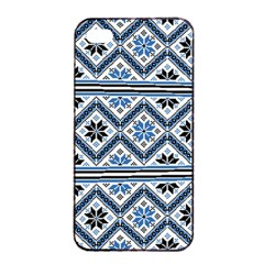 Folklore Apple Iphone 4/4s Seamless Case (black) by Valentinaart