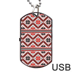 Folklore Dog Tag Usb Flash (two Sides) by Valentinaart