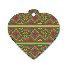 Folklore Dog Tag Heart (two Sides) by Valentinaart