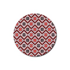 Folklore Rubber Round Coaster (4 Pack)  by Valentinaart