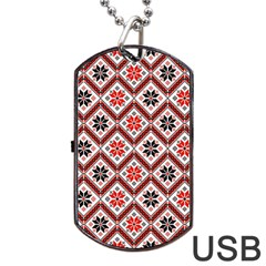 Folklore Dog Tag Usb Flash (one Side) by Valentinaart