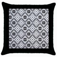 Folklore Throw Pillow Case (black)