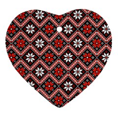 Folklore Heart Ornament (two Sides) by Valentinaart
