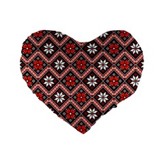 Folklore Standard 16  Premium Heart Shape Cushions by Valentinaart