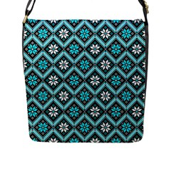 Folklore Flap Messenger Bag (l)  by Valentinaart