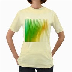 Folded Digitally Painted Abstract Paint Background Texture Women s Yellow T Shirt by Simbadda
