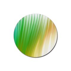 Folded Digitally Painted Abstract Paint Background Texture Rubber Coaster (round)  by Simbadda