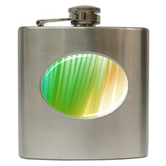 Folded Digitally Painted Abstract Paint Background Texture Hip Flask (6 Oz) by Simbadda