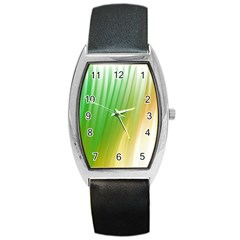 Folded Digitally Painted Abstract Paint Background Texture Barrel Style Metal Watch by Simbadda