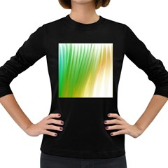 Folded Digitally Painted Abstract Paint Background Texture Women s Long Sleeve Dark T Shirts by Simbadda